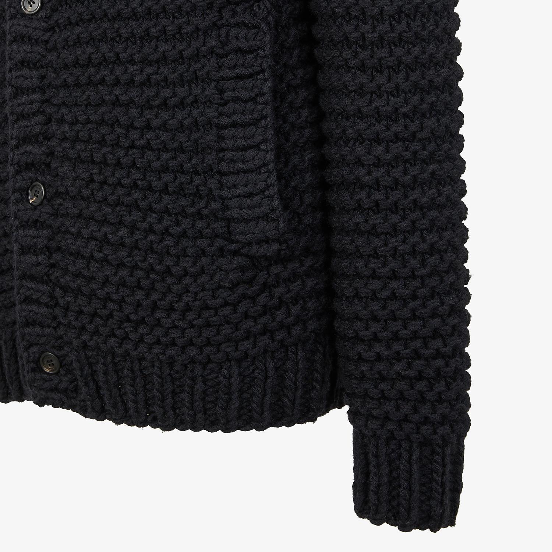 FENDI CARDIGAN - Black wool cardigan - view 3 detail
