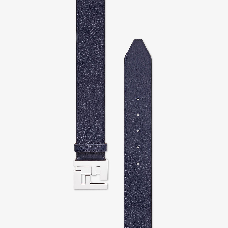 FENDI BELT - Blue Romano leather belt - view 2 detail