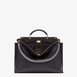 FENDI PEEKABOO ICONIC ESSENTIAL - Black leather bag - view 1 thumbnail