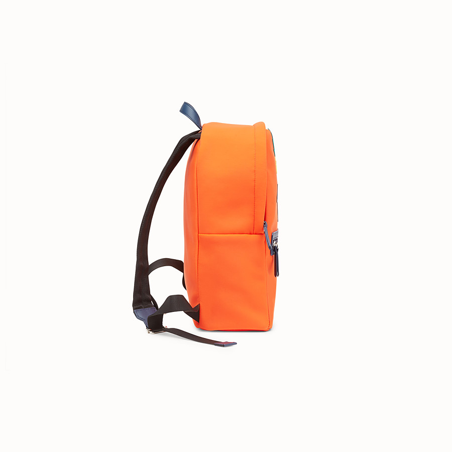 FENDI BACKPACK - Orange and multicolour fabric backpack - view 2 detail