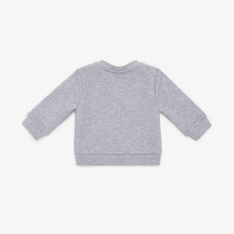 FENDI FELPA - Felpa in cotone grigio - vista 2 dettaglio