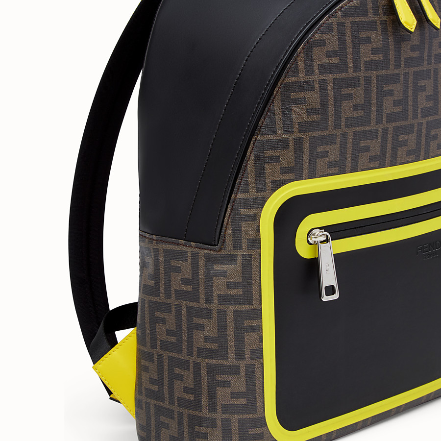 FENDI BACKPACK - Brown fabric backpack - view 4 detail