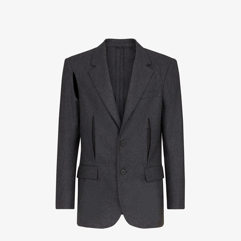 FENDI JACKET - Gray wool blazer - view 1 detail