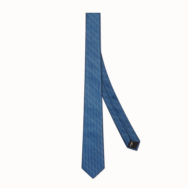 FENDI TIE - Blue silk tie - view 1 small thumbnail