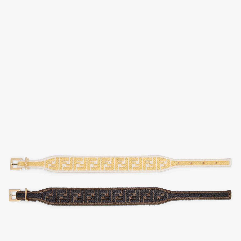 FENDI FF BRACELET - Yellow and brown fabric bracelets - view 2 detail
