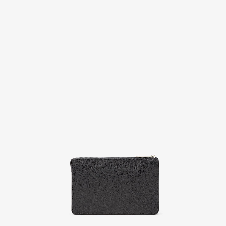 FENDI CLUTCH - Black leather clutch - view 3 detail