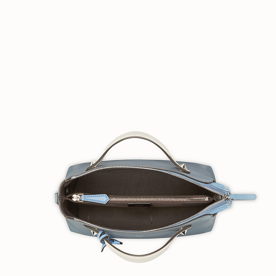 FENDI BY THE WAY REGULAR - Sac Boston en cuir bleu - view 4 detail