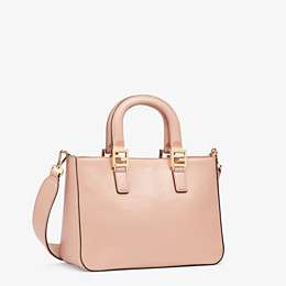 FENDI FF TOTE SMALL - Tasche aus Leder in Rosa - view 3 thumbnail
