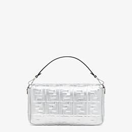 FENDI BAGUETTE LARGE - Silver leather bag - view 4 thumbnail