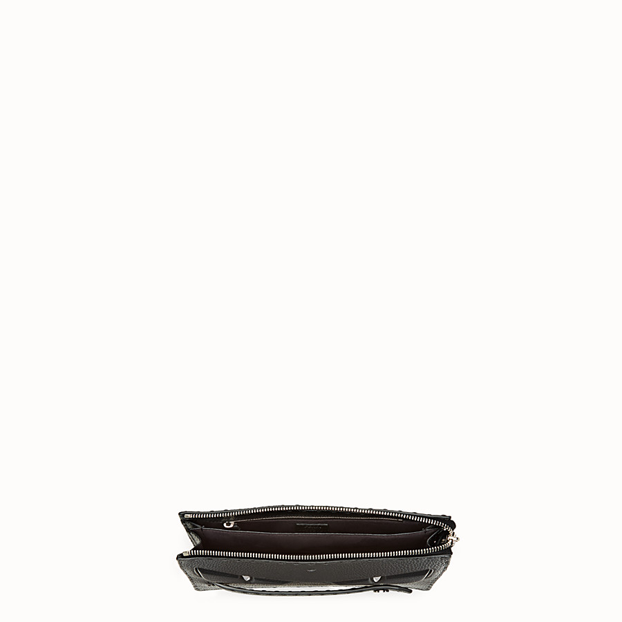 FENDI CLUTCH - in black Roman leather - view 4 detail
