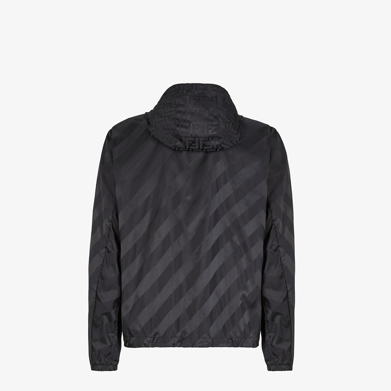 FENDI WINDBREAKER - Black nylon jacket - view 2 detail