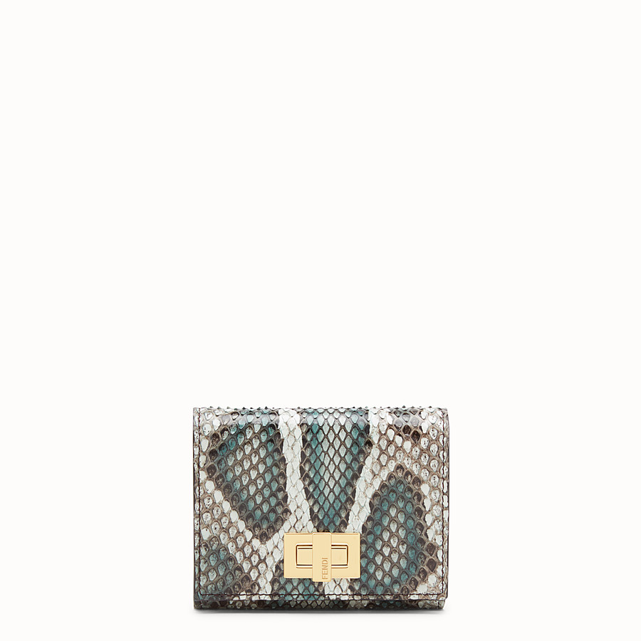 FENDI CARD HOLDER - Green python card holder - view 1 detail