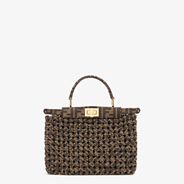 FENDI PEEKABOO ICONIC MINI - Jacquard fabric interlace bag - view 1 thumbnail