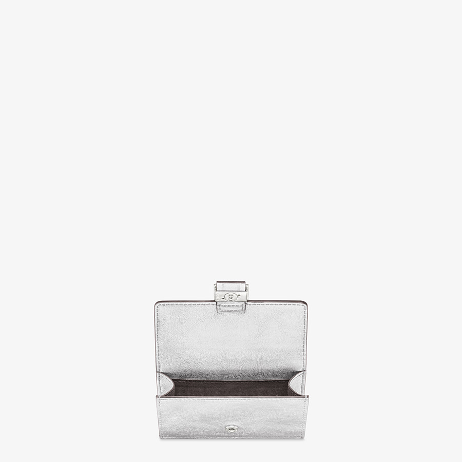 FENDI CARD HOLDER - Silver leather cardholder - view 3 detail