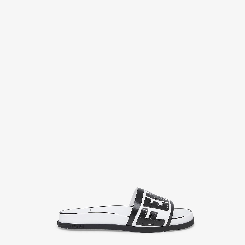 FENDI SANDALS - Fendi Roma Joshua Vides leather Fussbett sandals - view 1 detail