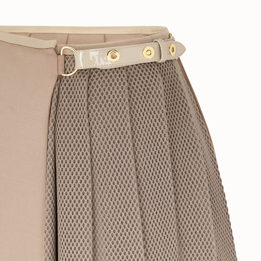 FENDI SKIRT - Beige jersey skirt - view 3 detail