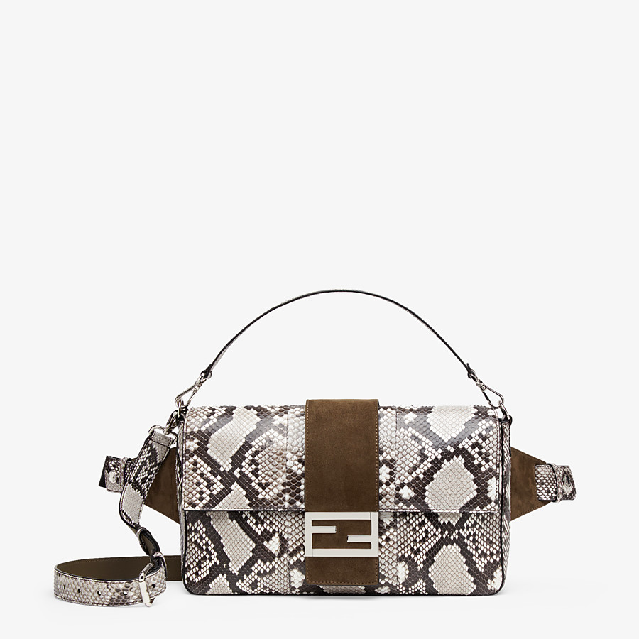 FENDI BAGUETTE LARGE - White python bag - view 1 detail