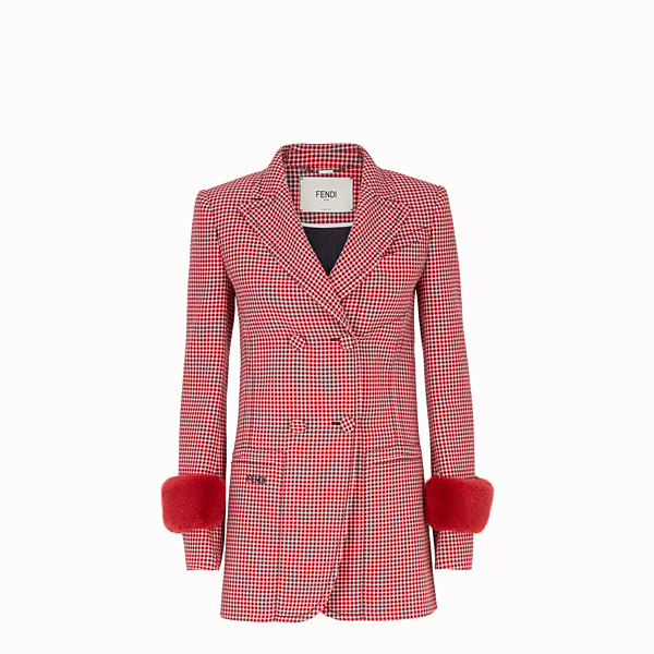 FENDI VESTE - Blazer en laine rouge - view 1 small thumbnail
