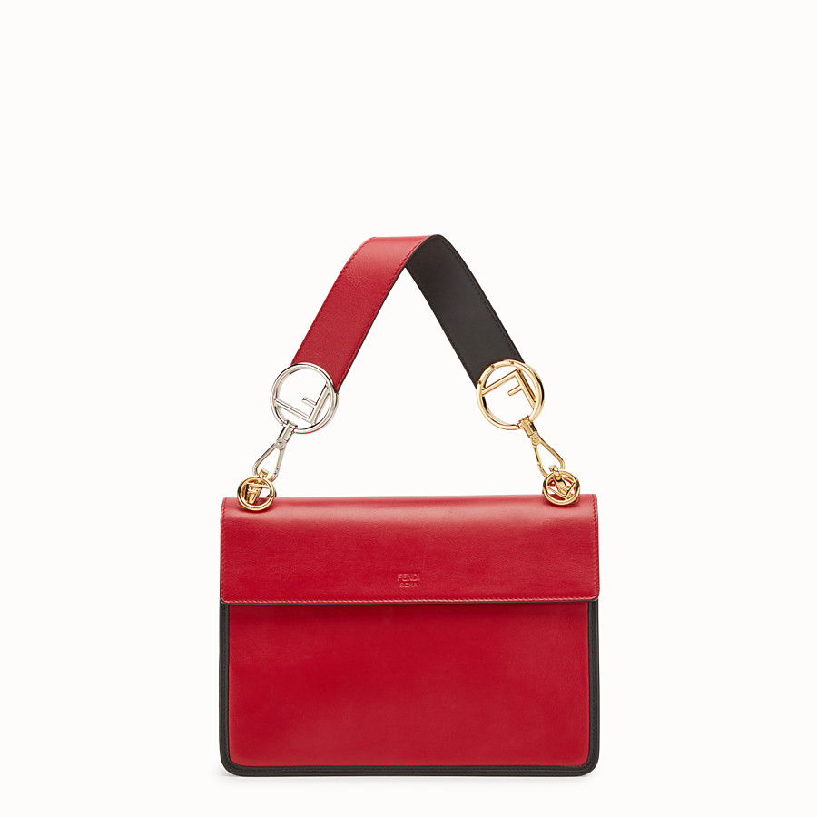 FENDI KAN I F - Red leather bag - view 4 detail