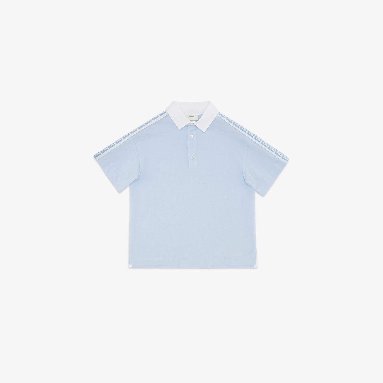 FENDI JUNIOR POLOSHIRT - Junior Poloshirt aus Piqué in Hellblau - view 1 detail