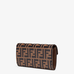 FENDI CONTINENTAL - Brown leather wallet - view 2 thumbnail