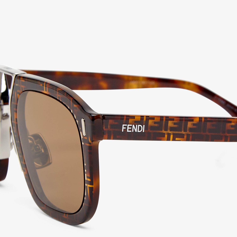 FENDI FENDI FORCE - Havana FF sunglasses - view 3 detail