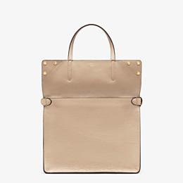 FENDI FENDI FLIP LARGE - Beige leather bag - view 3 thumbnail