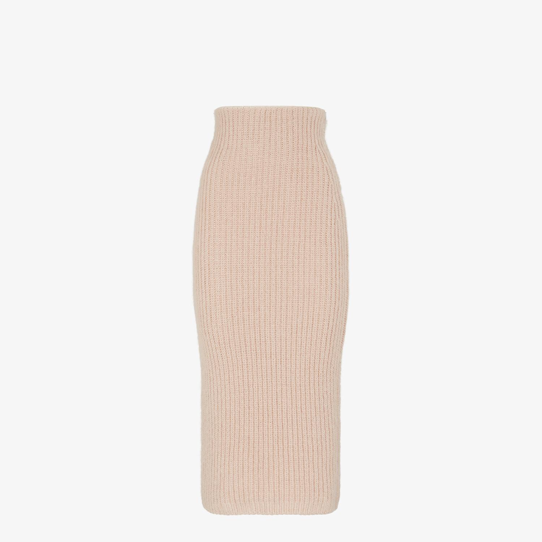 FENDI SKIRT - Pink mohair skirt - view 1 detail
