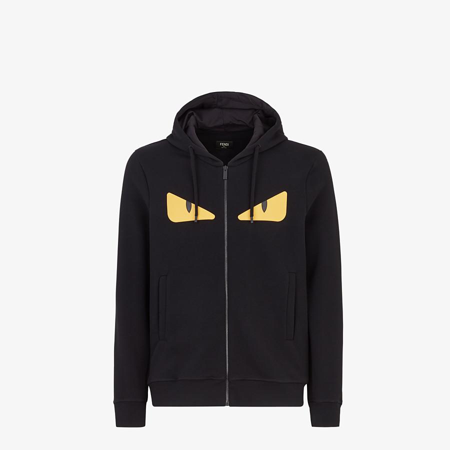 FENDI SWEATSHIRT - Black wool and cotton sweatshirt - view 1 detail