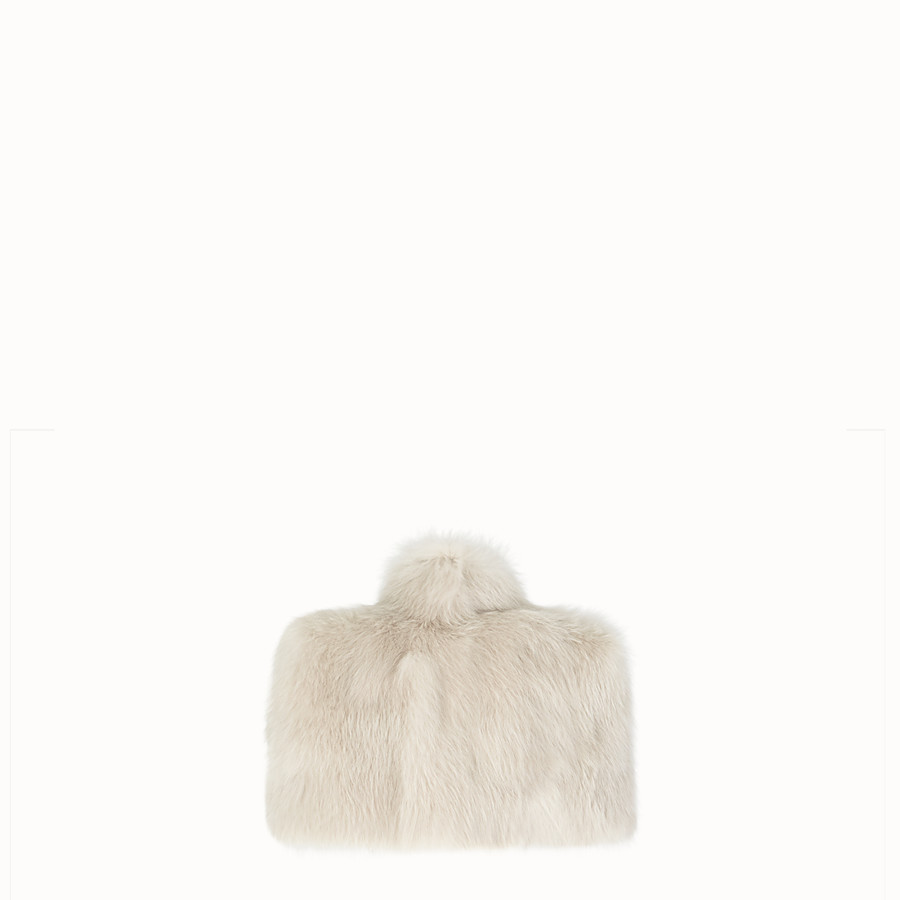 FENDI CAPE - White fur cape - view 2 detail