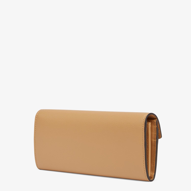 FENDI CONTINENTAL - Beige leather wallet - view 2 detail