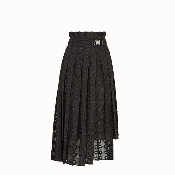 FENDI SKIRT - Black organza skirt - view 1 small thumbnail