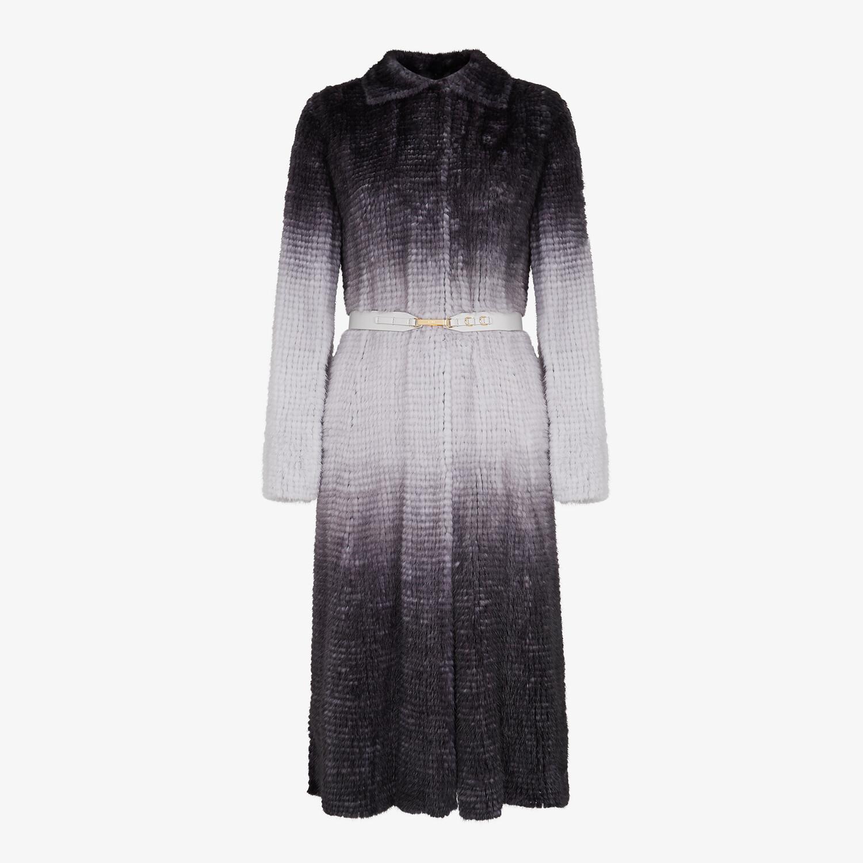 FENDI COAT - Gray mink coat - view 1 detail