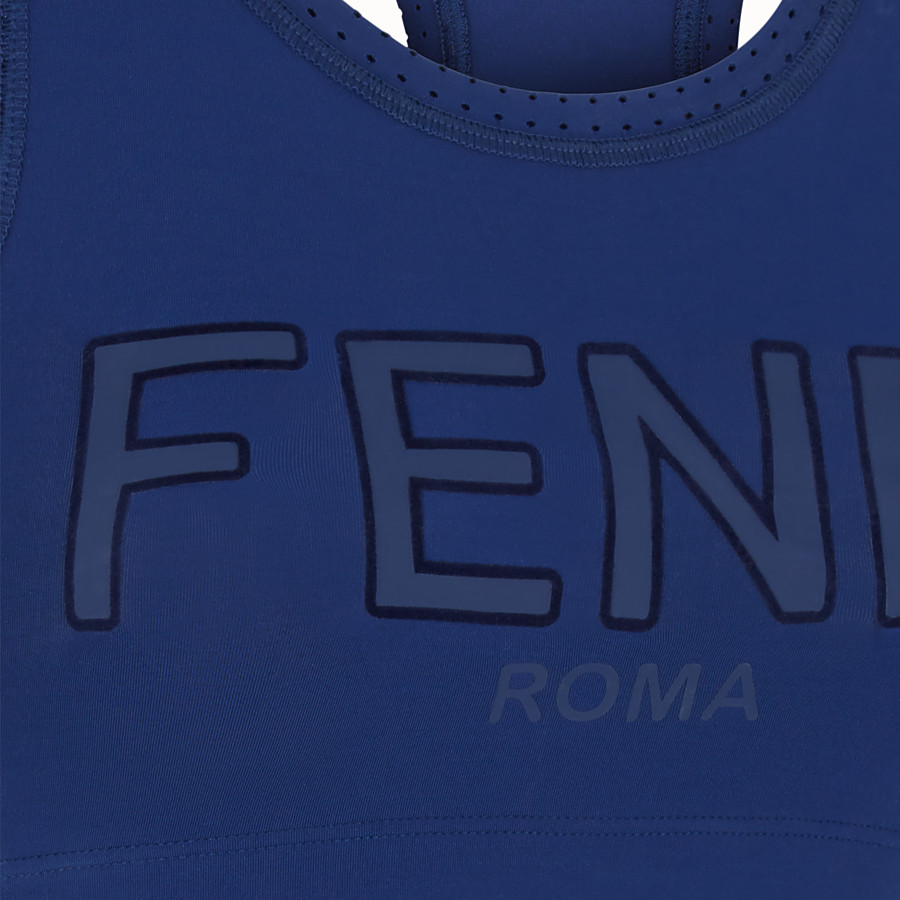 FENDI TOP - Blue fabric top - view 3 detail
