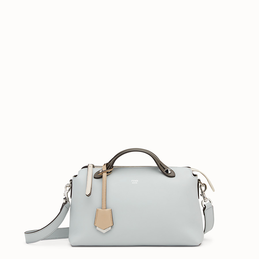 FENDI BY THE WAY REGULAR - Gray leather Boston bag - view 1 detail
