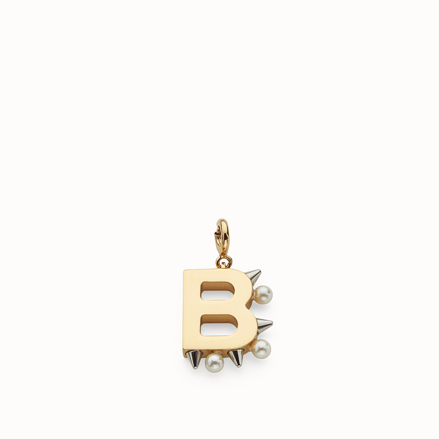FENDI ABCHIC B - Charm with pearls and studs - view 1 detail
