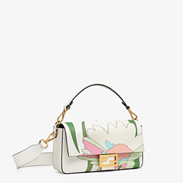 FENDI BAGUETTE - White leather bag - view 3 thumbnail