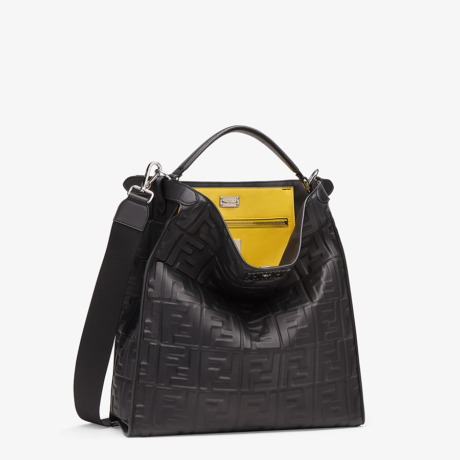 FENDI PEEKABOO X-LITE FIT - Black nappa leather bag - view 3 detail