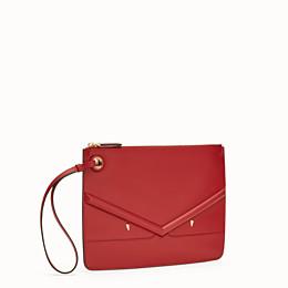 816dc0889496 Red leather clutch - MEDIUM TRIPLETTE CLUTCH