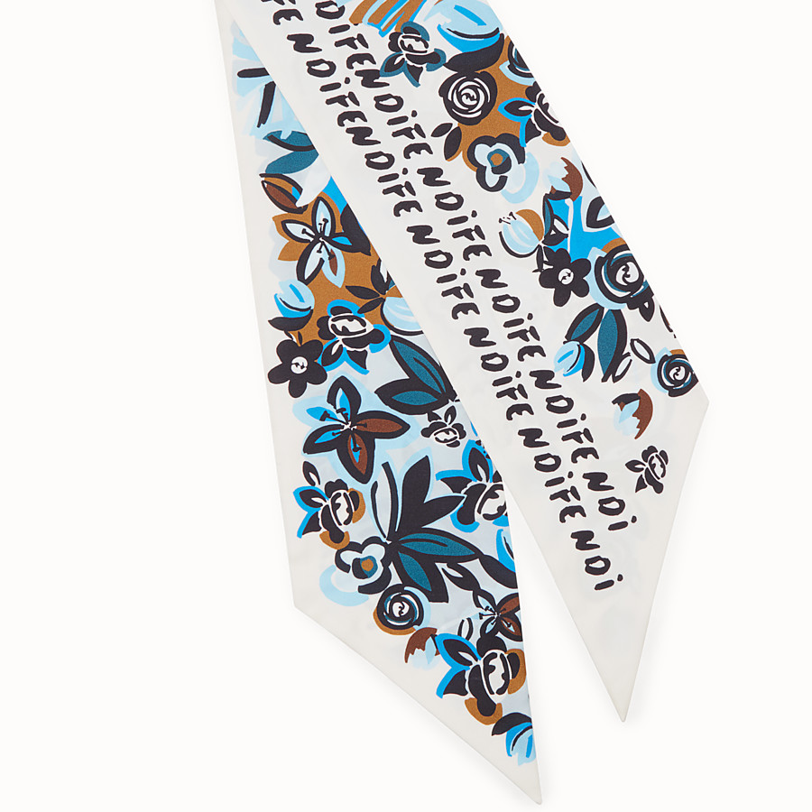 FENDI MAXI WRAPPY FLOWERS - Bandana de seda multicolor - view 2 detail