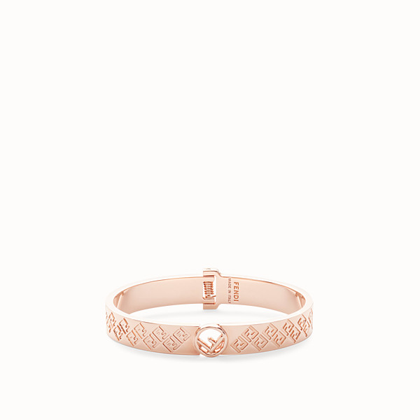 FENDI FF BRACELET - Pink-gold-coloured bracelet - view 1 small thumbnail