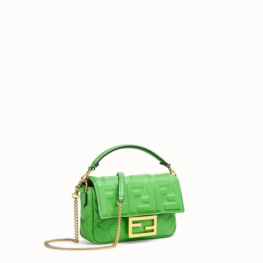 FENDI BAGUETTE - Green nappa leather bag - view 3 detail