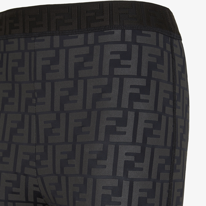 FENDI LEGGINGS - Black tech fabric leggings - view 3 detail