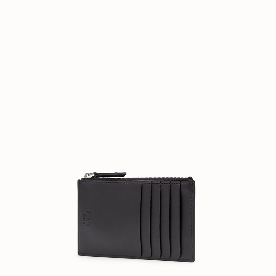 FENDI COIN PURSE - Black leather coin purse - view 2 detail
