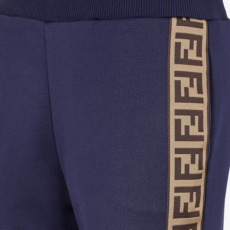 FENDI TROUSERS - Blue jersey jogging trousers - view 3 detail