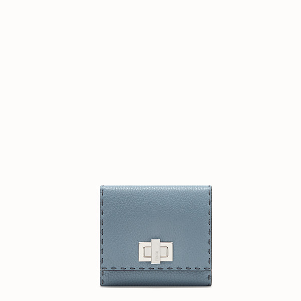 FENDI CONTINENTAL MEDIUM - Pale blue leather wallet - view 1 small thumbnail