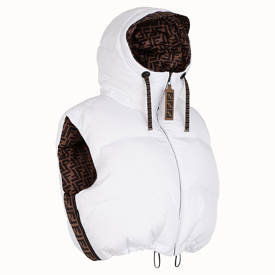 FENDI GILET - White tech fabric gilet - view 3 detail