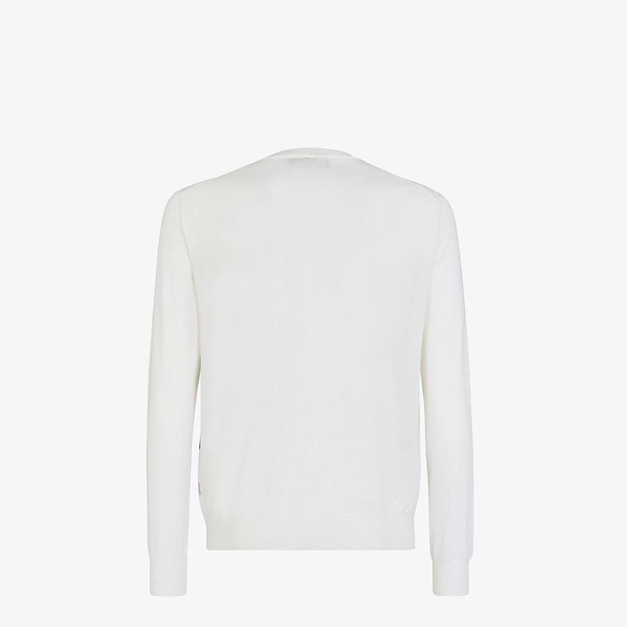 FENDI SWEATER - White wool sweater - view 2 detail