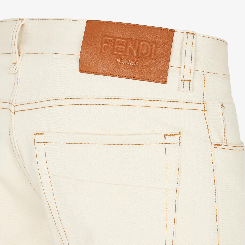 FENDI DENIM - Yellow denim jeans - view 3 detail