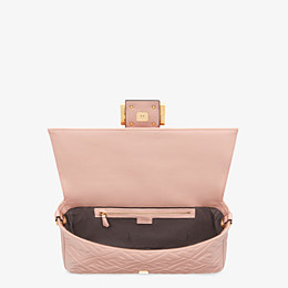 FENDI BAGUETTE LARGE - Pink nappa leather bag - view 5 thumbnail